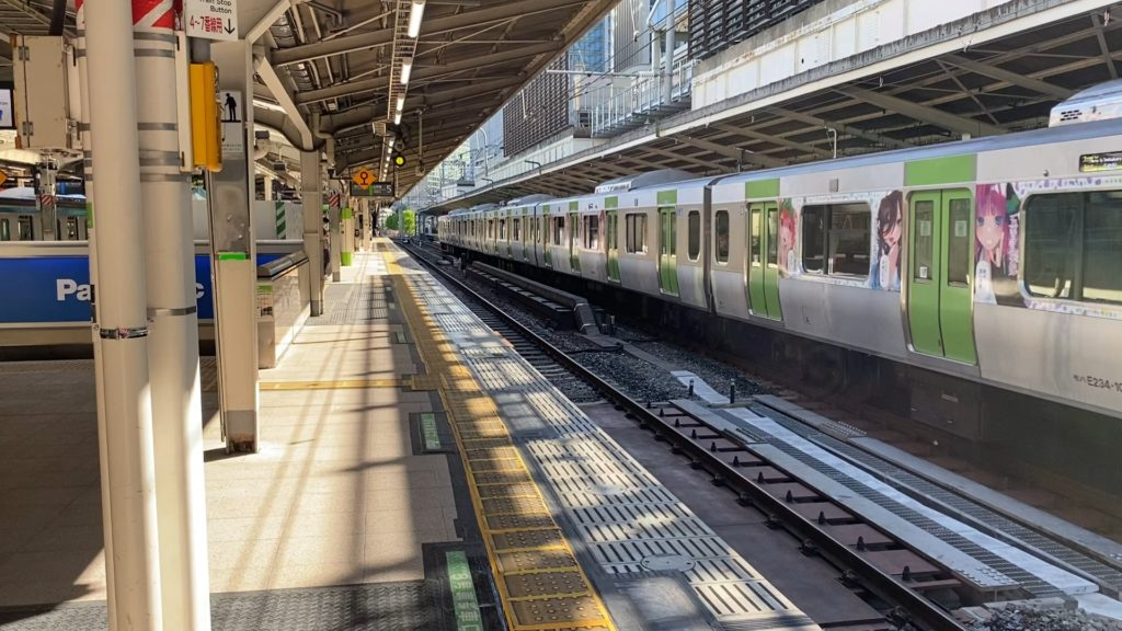 東京駅の山手線ホーム